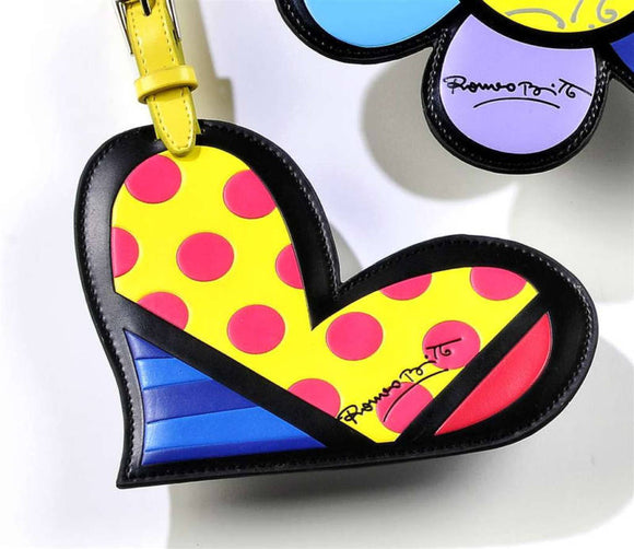 ROMERO BRITTO HEART LUGGAGE/BACKPACK ID TAG