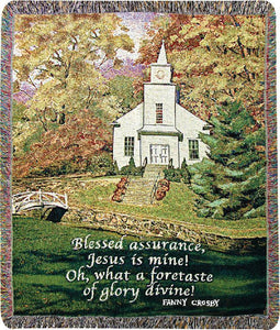 HAZEL'S CHURCH TAPESTRY THROW