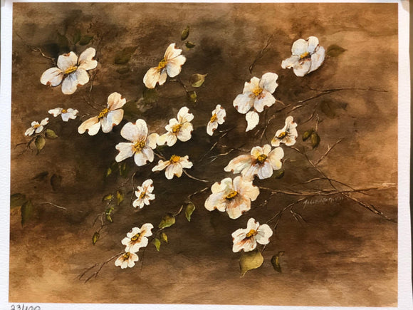 "Limited Edition Numbered Painting Print ""Dogwoods"""