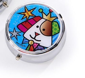 *NEW* ROMERO BRITTO ANNIVERSARY PILL BOX WITH DOG