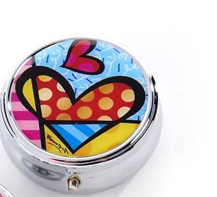 *NEW* ROMERO BRITTO ANNIVERSARY PILL BOX WITH HEART