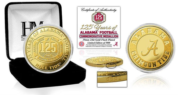 University of Alabama Football 125th Anniversary Gold Mint Coin