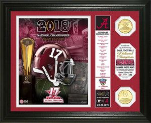 "Alabama Crimson Tide 2017 Football National Champions ""Banner"" Bronze Coin Photo Mint"