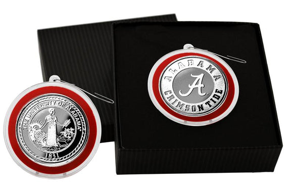 Alabama (UofA) Silver Coin Ornament