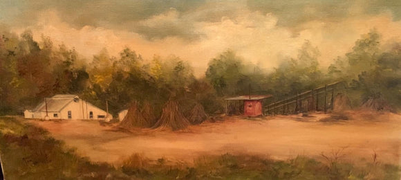 "Limited Edition Numbered Painting Print ""Cobb's Sorghum Mill"
