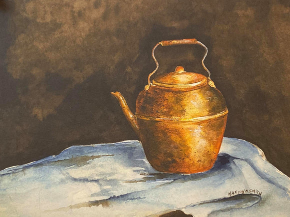 "Limited Edition Numbered Painting Print ""Copper Kettle"