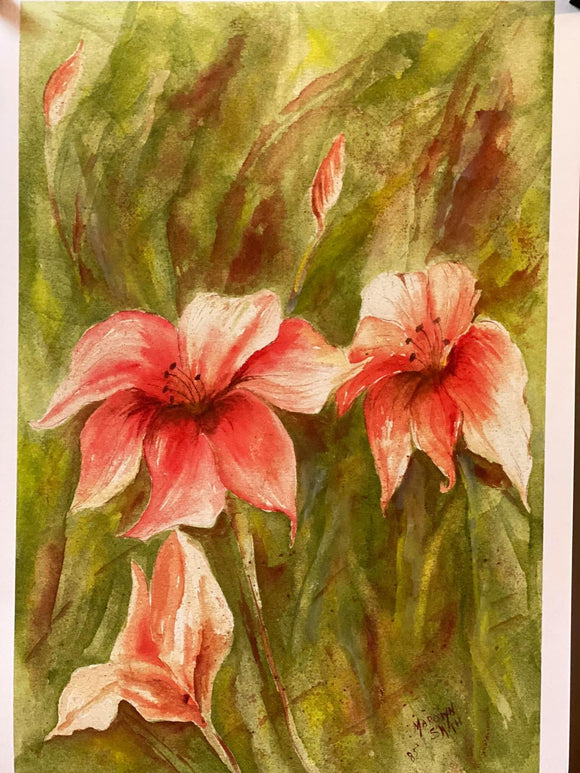"Limited Edition Numbered Painting Print ""Day Lilies"