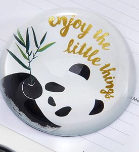 "Glass ""Enjoy The Little Things"" Paperweight/Paper Weight"
