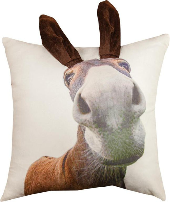 3D DONKEY PRINTED PILLOW