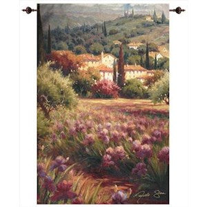 IRIS FIELDS GRANDE' TAPESTRY WALL HANGING