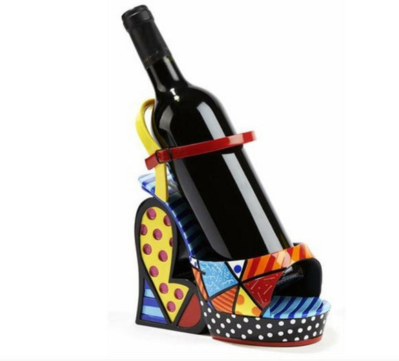 ROMERO BRITTO PLATFORM SHOE WINE BOTTLE HOLDER