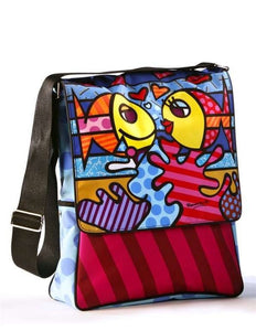 "Romero Britto ""Deeply In Love"" Fish Messenger Bag"