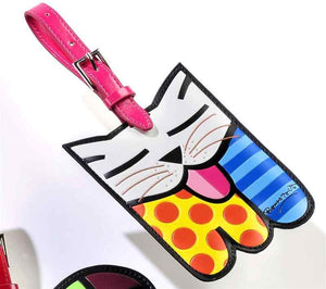 ROMERO BRITTO KITTY CAT LUGGAGE/BACKPACK ID TAG