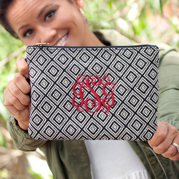 Everly Wristlet In Black Diamond