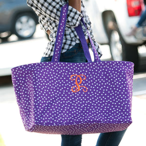 Scattered Dot Ultimate Tote In Purple