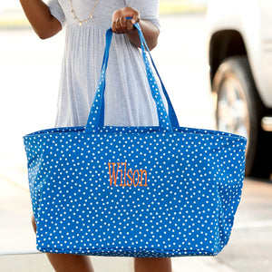 Scattered Dot Ultimate Tote In Royal Blue