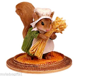 Wee Forest Folk Squirrel Peasant à la Gauguin MU-06