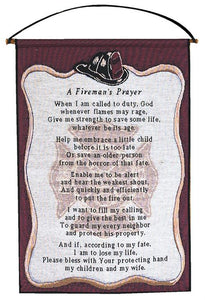 A FIREMANS PRAYER TAPESTRY WALL HANGING
