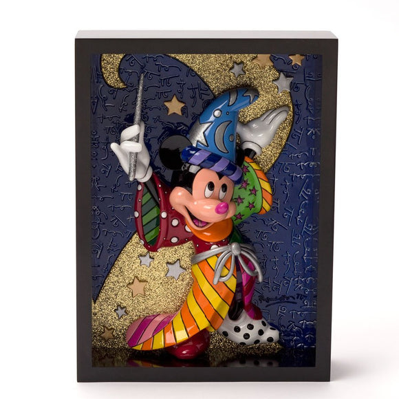 ROMERO BRITTO DISNEY MICKEY MOUSE SORCERER 3D POP ART BLOCK