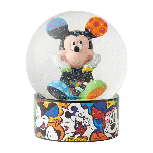 Romero Britto Disney Mickey Mouse Waterball/ Waterglobe/ Glass Snow Globe