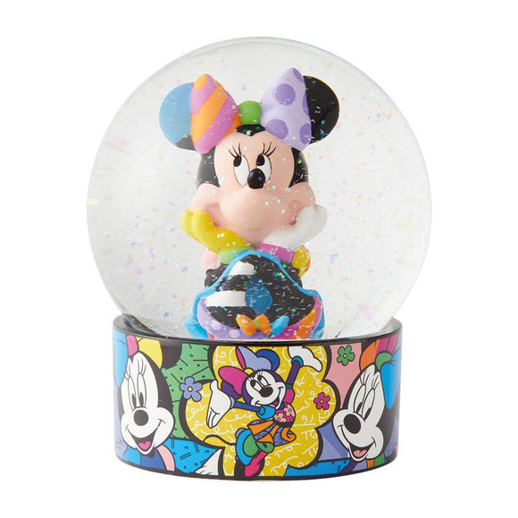 Romero Britto Disney Minnie Mouse Waterball/ Waterglobe/ Glass Snow Globe