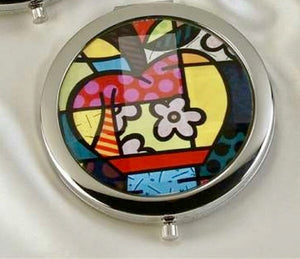 ROMERO BRITTO COMPACT WITH MIRRORS- APPLE DESIGN
