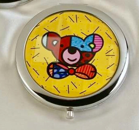 ROMERO BRITTO COMPACT WITH MIRRORS- TEDDY BEAR DESIGN