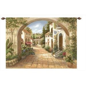 QUAINT TOWN GRANDE' TAPESTRY WALL HANGING