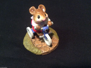 Wee Forest Folk Special Color Blue Mousey's Tricycle