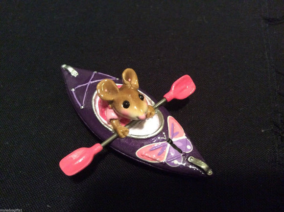 Wee Forest Folk Special Color Butterfly Purple & Pink Drifting Along Kayak