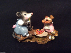 Wee Forest Folk Special Color Little Girl Possum's Pizza Party