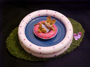 Wee Forest Folk Special Color Lavender/Pink Fun Float W/Pool Display