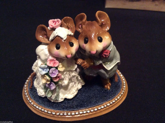Wee Forest Folk Special Color Multi-Colored Flowers Wedding Pair