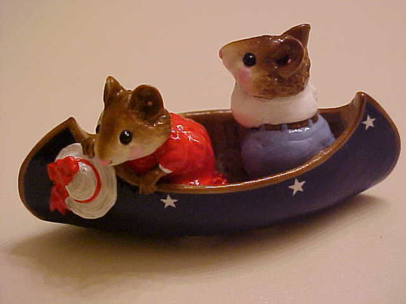 Wee Forest Folk Special Color R/W/B Two In A Canoe