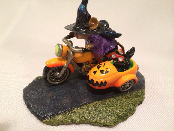 Wee Forest Folk Special Color Spooky Speeder With Pumpkin Face