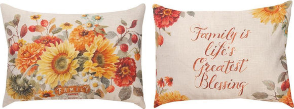 *NEW* AUTUMN IN BLOOM RECTANGLE PILLOW