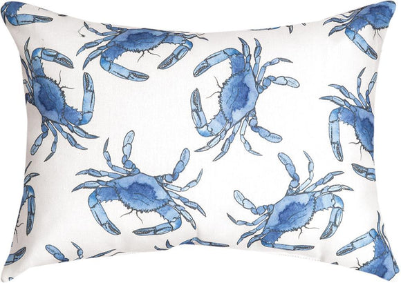 Blue Crab Rectangle Indoor/Outdoor Pillow