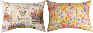 *New* Fresh Flowers Rectangle Pillow