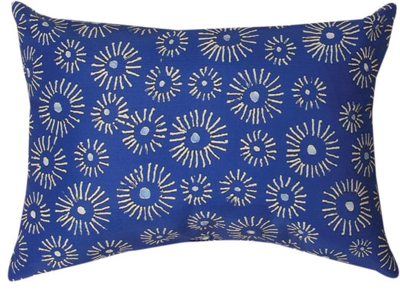 *New* Mood Indigo Blue & White Rectangle Pillow