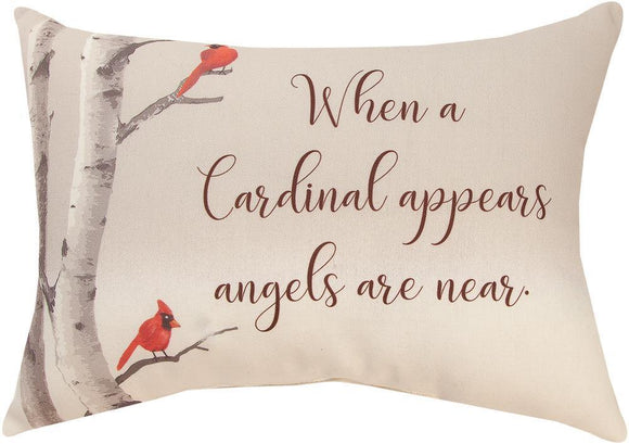 *NEW* WHEN A CARDINAL APPEARS RECTANGLE PILLOW