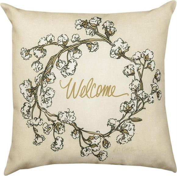 Cotton Welcome Indoor/Outdoor Pillows Set of 2