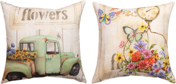 *New* Fresh Flowers Pillow