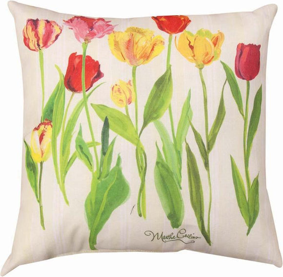 Tulips Indoor/Outdoor Pillows Set of 2