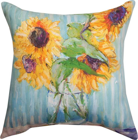 *NEW* SUNFLOWERS IN VASE PILLOW