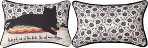"*NEW* ""CAT NAPPY"" CAT RECTANGLE PILLOW"