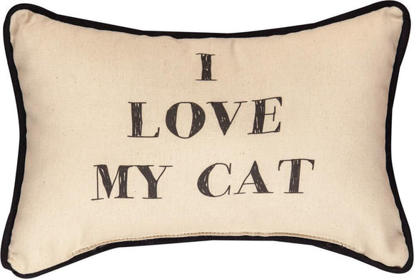*NEW* I LOVE MY CAT WORD PILLOW