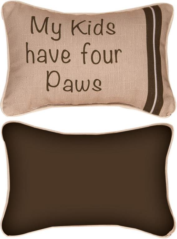 *NEW* MY KIDS HAVE FOUR PAWS WORD PILLOW