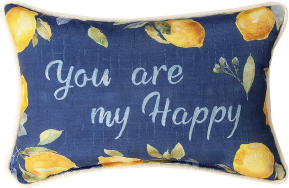 *New* ZEST OF HAPPY RECTANGLE PILLOW