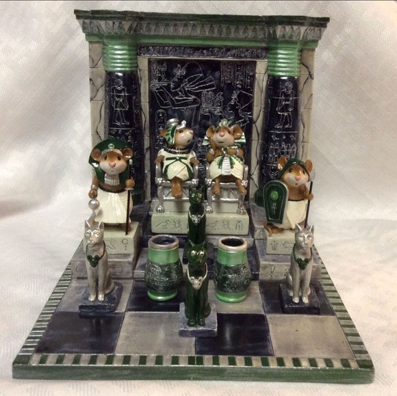 Wee Forest Folk Special Emerald Egyptian Set With Royal Cats