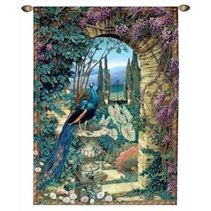 THE SECRET GARDEN GRANDE' TAPESTRY WALL HANGING